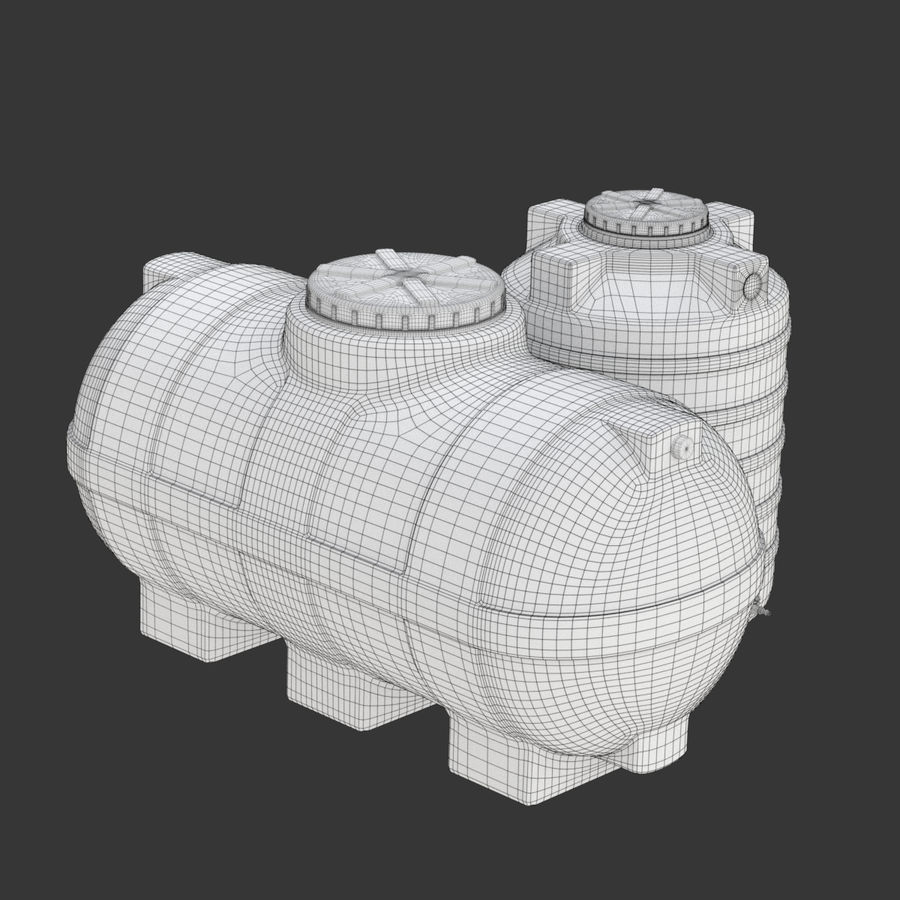 Plastic wateropslagtanks royalty-free 3d model - Preview no. 24