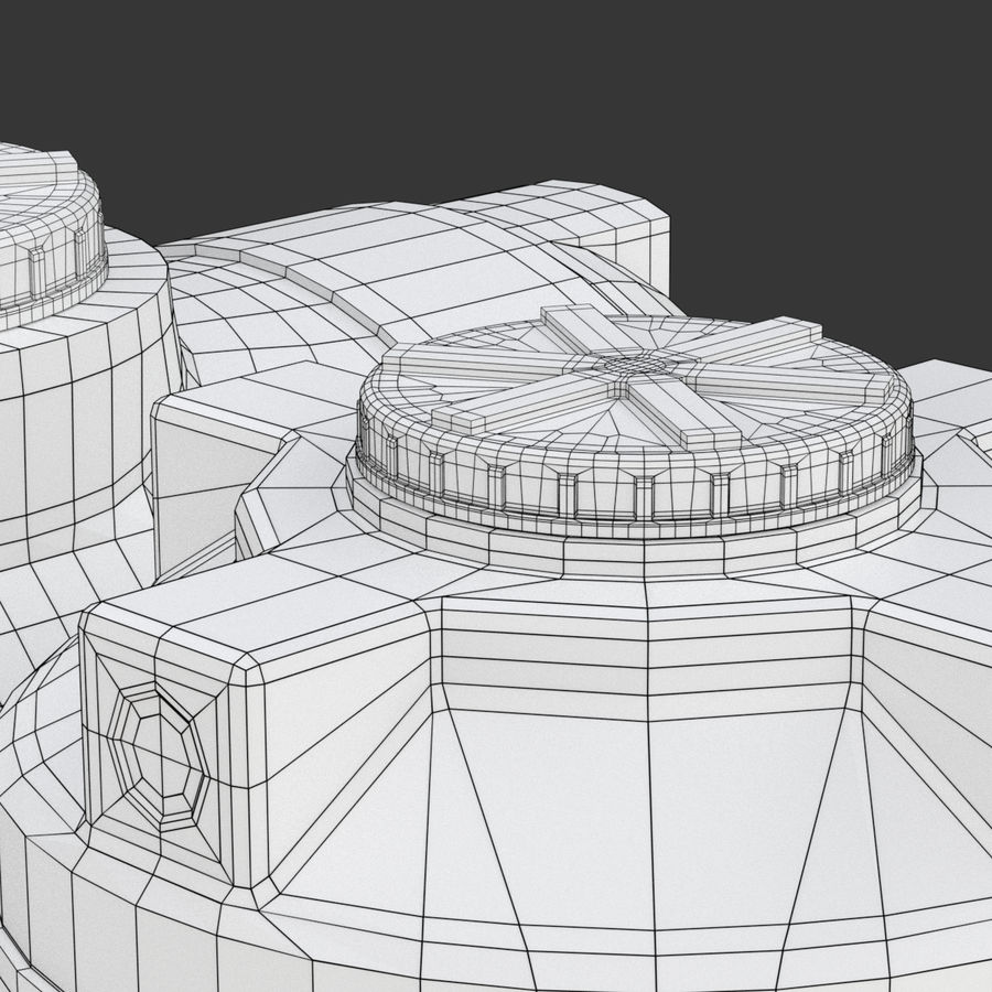 Plastic wateropslagtanks royalty-free 3d model - Preview no. 16