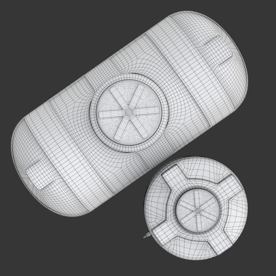 Plastic wateropslagtanks royalty-free 3d model - Preview no. 26