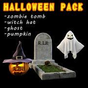 Paquete de Halloween (4 artículos) modelo 3d