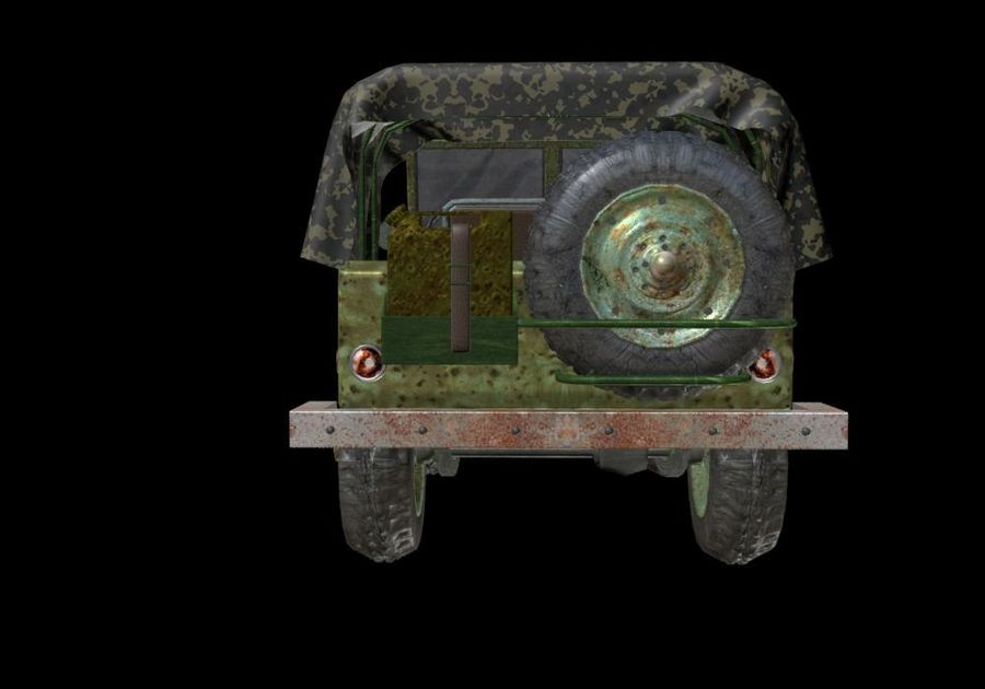 Russischer Militärjeep royalty-free 3d model - Preview no. 8