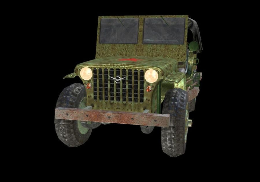 Russischer Militärjeep royalty-free 3d model - Preview no. 3