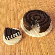 Gateau au chocolat 3d model