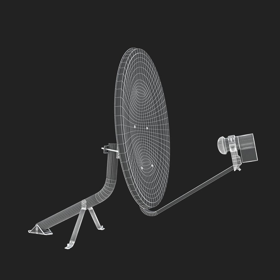 Home satellietschotel royalty-free 3d model - Preview no. 12