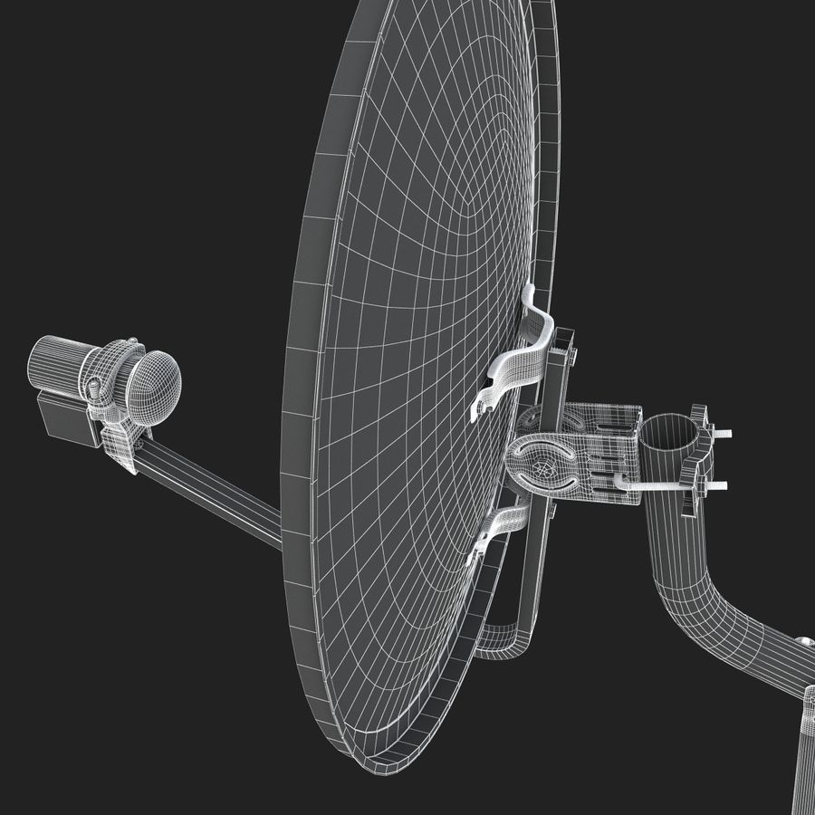 Home satellietschotel royalty-free 3d model - Preview no. 19