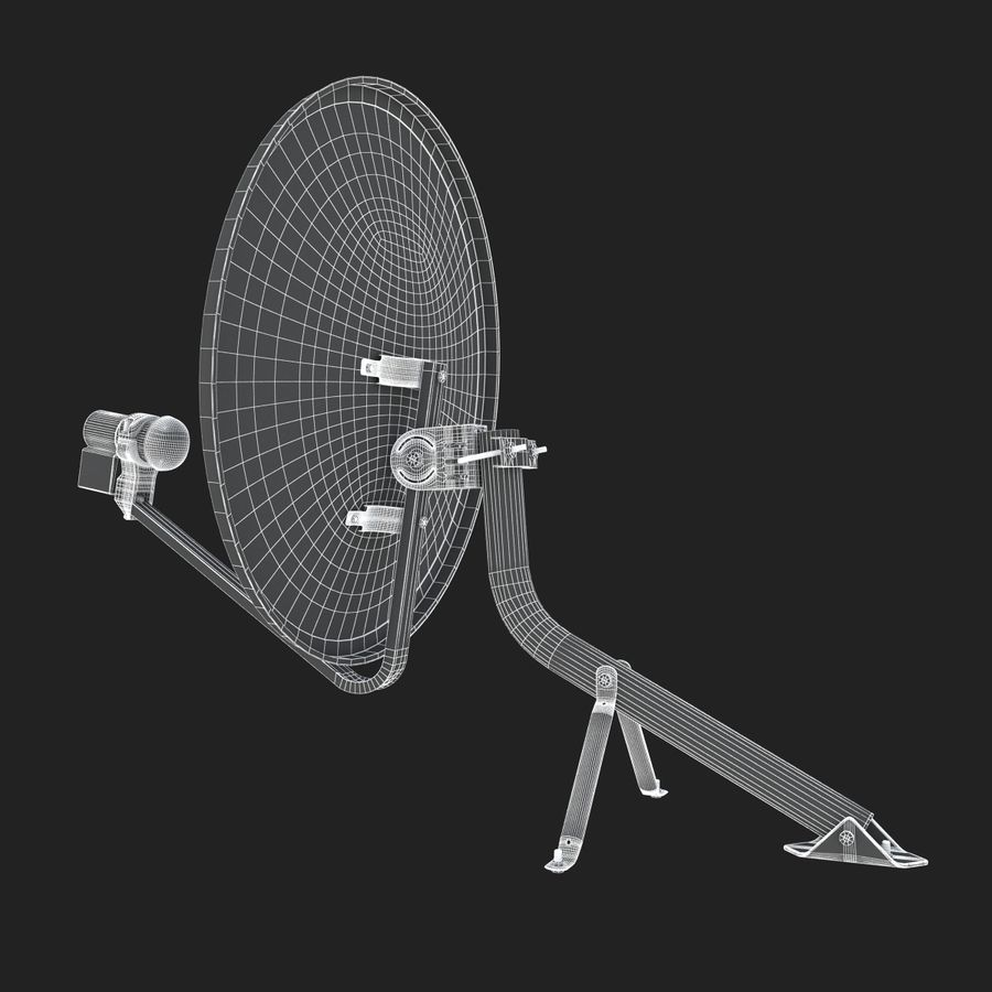 Home satellietschotel royalty-free 3d model - Preview no. 13