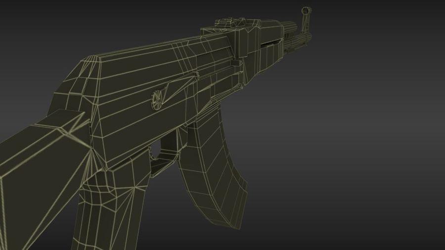 Arme Ak47 royalty-free 3d model - Preview no. 8