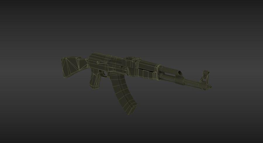 Arme Ak47 royalty-free 3d model - Preview no. 7