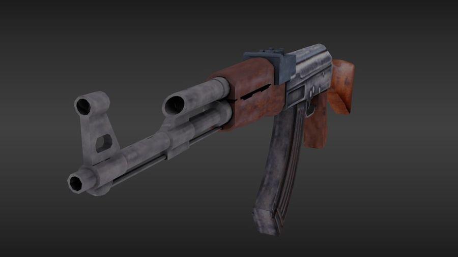 Arme Ak47 royalty-free 3d model - Preview no. 5