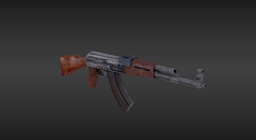 Arme Ak47 royalty-free 3d model - Preview no. 2