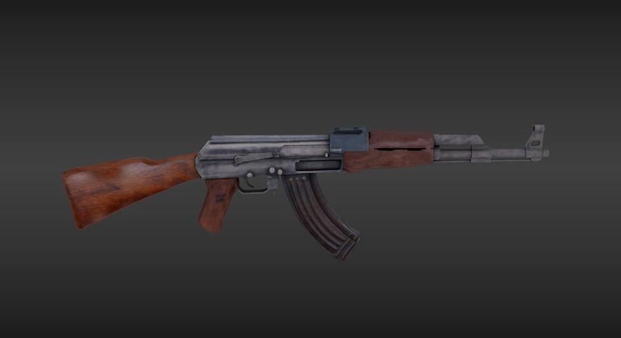 Arme Ak47 royalty-free 3d model - Preview no. 3