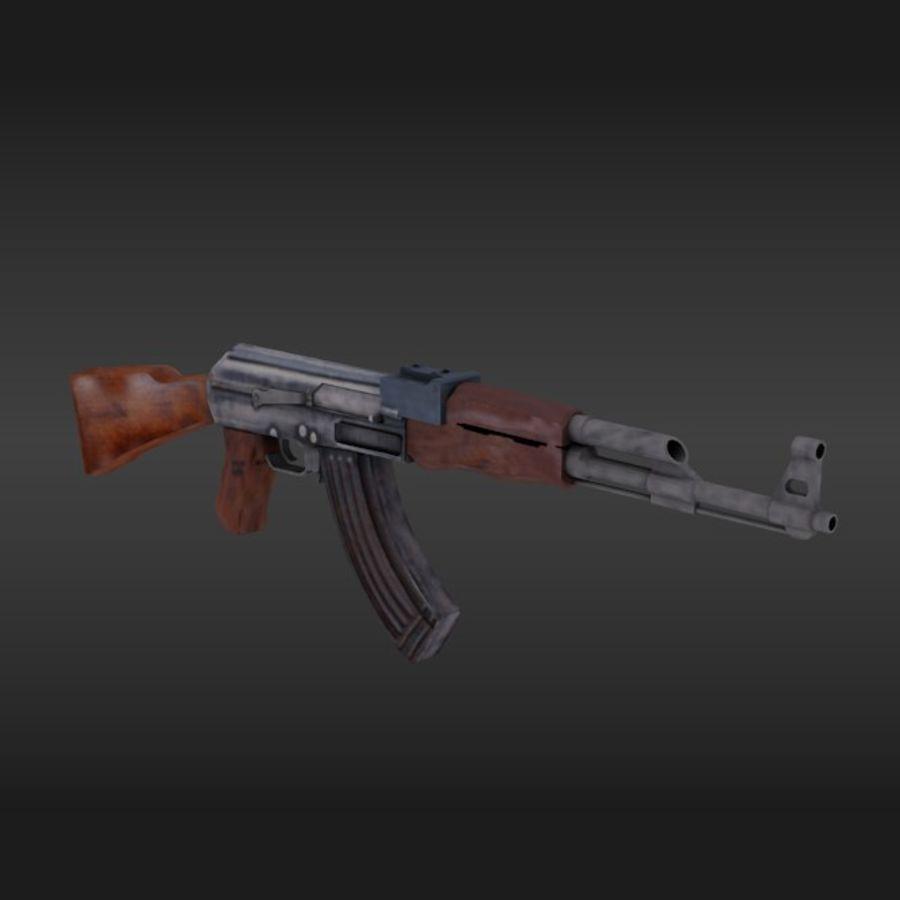 Arme Ak47 royalty-free 3d model - Preview no. 1