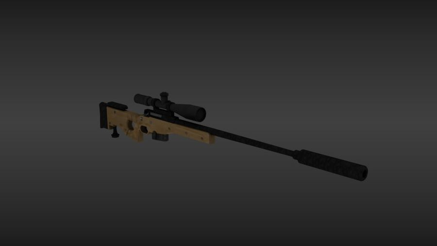 Precisión arma internacional royalty-free modelo 3d - Preview no. 2