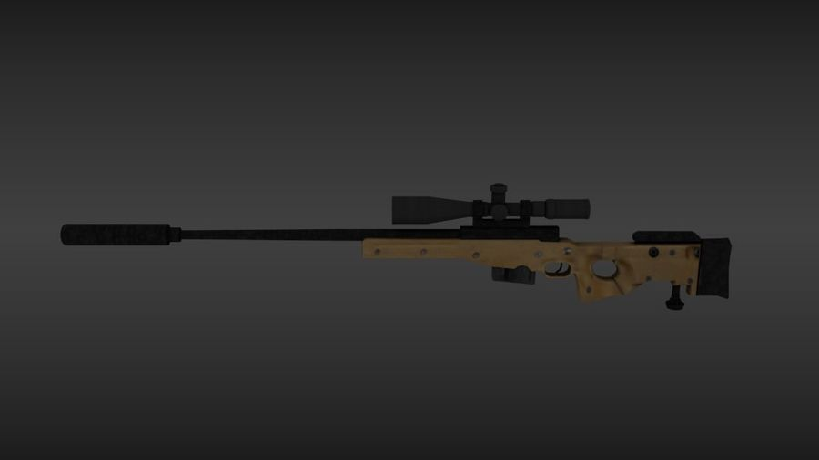 Precisión arma internacional royalty-free modelo 3d - Preview no. 4
