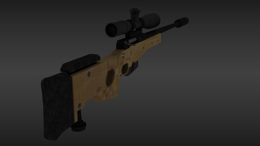 Precisión arma internacional royalty-free modelo 3d - Preview no. 5