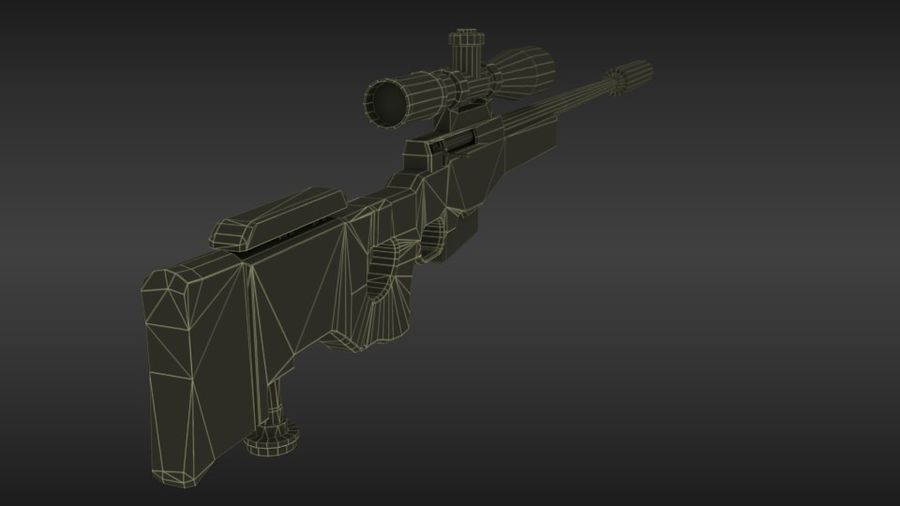 Precisión arma internacional royalty-free modelo 3d - Preview no. 8