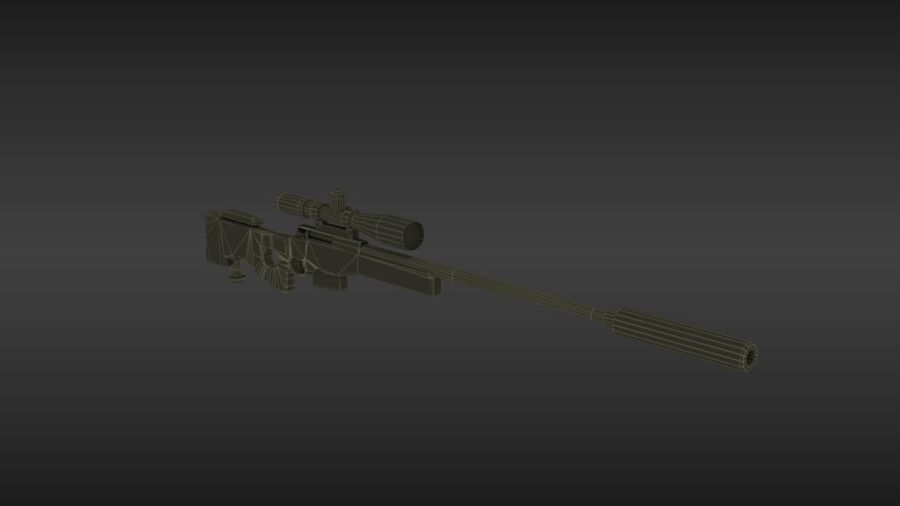 Precisión arma internacional royalty-free modelo 3d - Preview no. 7