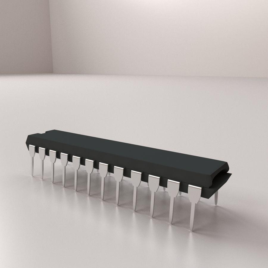 28针微芯片 royalty-free 3d model - Preview no. 3