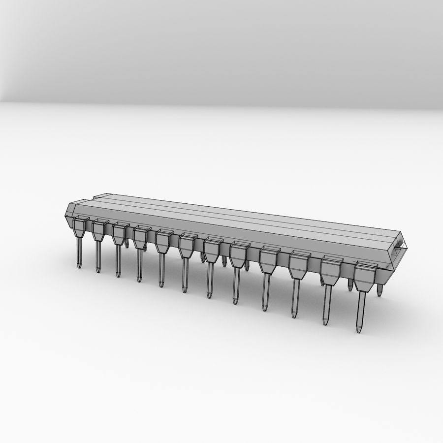 28针微芯片 royalty-free 3d model - Preview no. 5