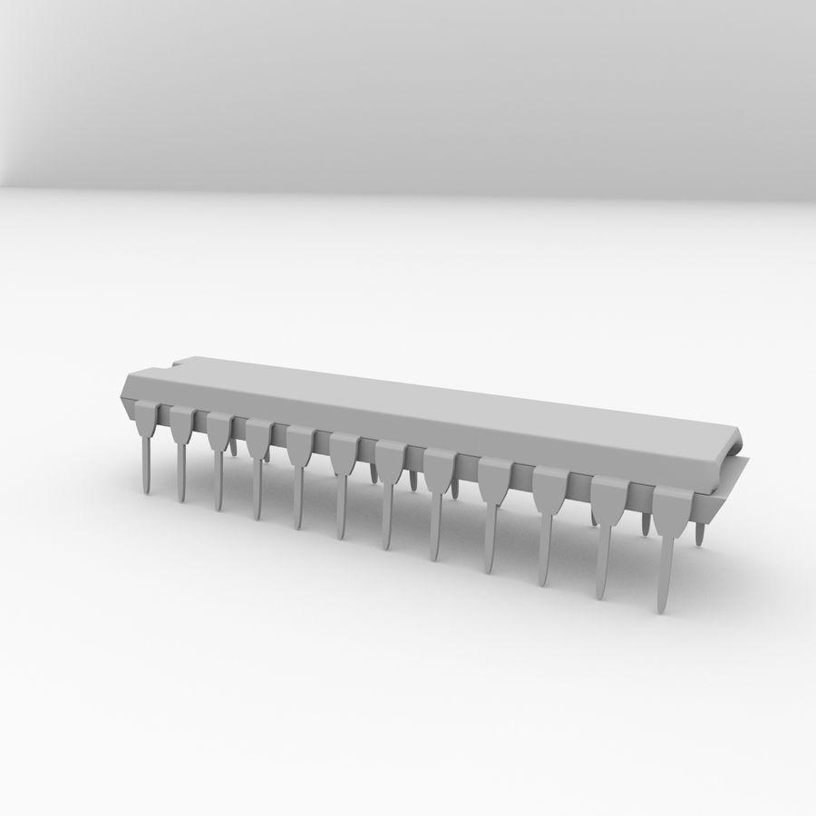 28针微芯片 royalty-free 3d model - Preview no. 4