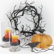 ハロウィーンの装飾セット 3d model
