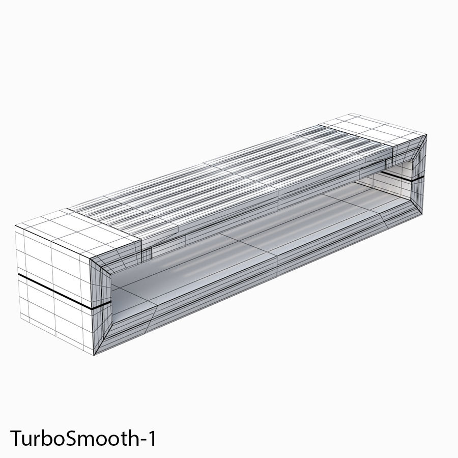 Bench Sky11 Elements 1030 royalty-free 3d model - Preview no. 6