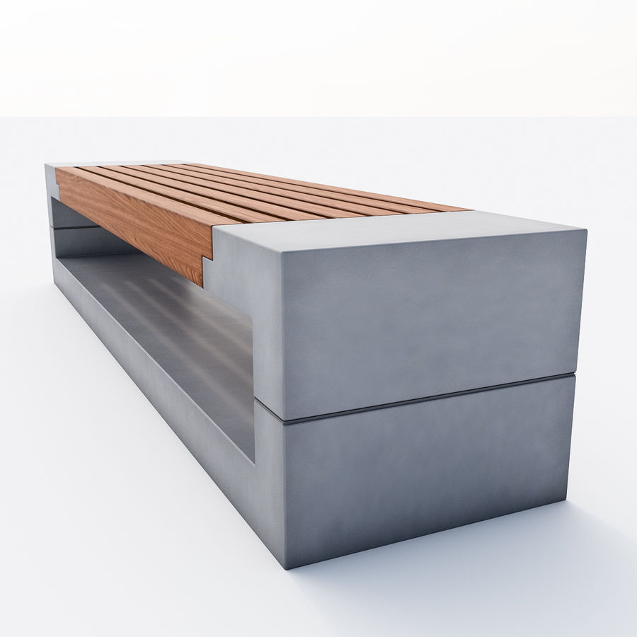 Bench Sky11 Elements 1030 royalty-free 3d model - Preview no. 3