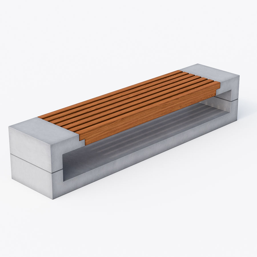 Bench Sky11 Elements 1030 royalty-free 3d model - Preview no. 2