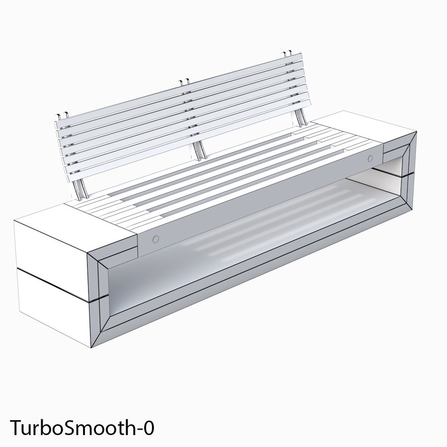 Bench Sky11 Elements 1040 royalty-free 3d model - Preview no. 5