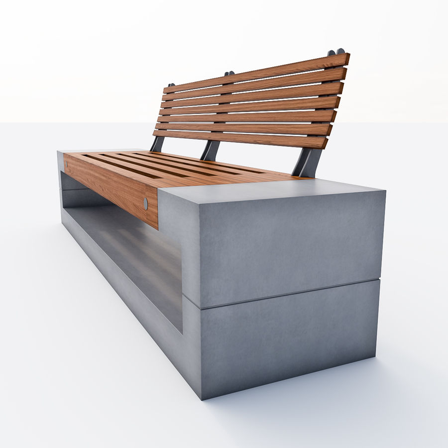 Bench Sky11 Elements 1040 royalty-free 3d model - Preview no. 3