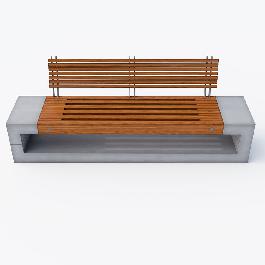 Bench Sky11 Elements 1040 royalty-free 3d model - Preview no. 4