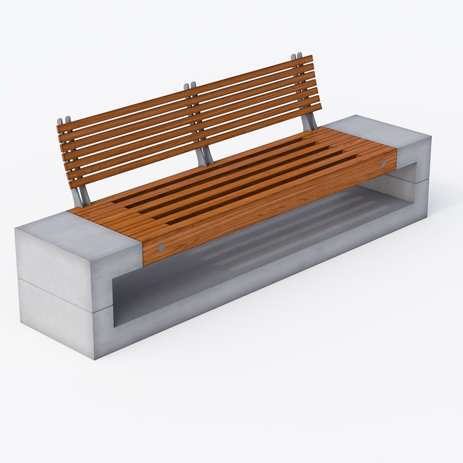 Bench Sky11 Elements 1040 royalty-free 3d model - Preview no. 2
