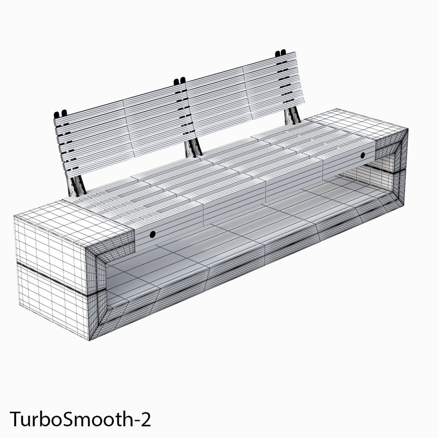 Bench Sky11 Elements 1040 royalty-free 3d model - Preview no. 7