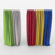 Multi gekleurde gordijnen in de kinderkamer textiel 3d model