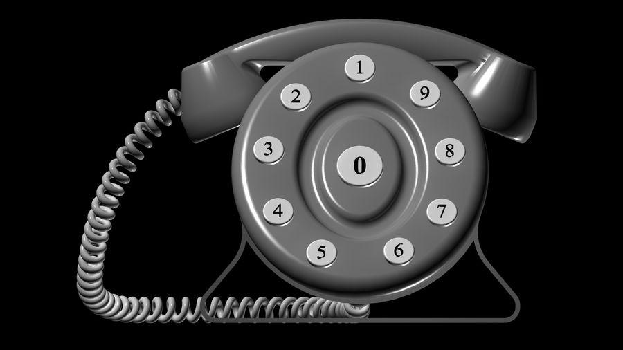 telefone royalty-free 3d model - Preview no. 1