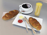 Set petit déjeuner 3d model