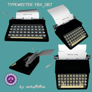 Typewriter_Old FBX OBJ 3d model