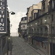 European Street in obj format 3d model
