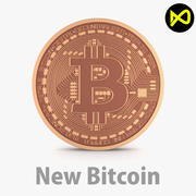 Nouveau Bitcoin 2018 3d model