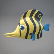 Pesce Cartone Animato 3d model