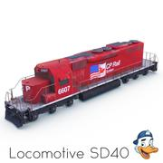 Lokomotive SD40 3d model