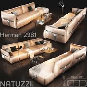 Canapé Natuzzi Herman 3d model