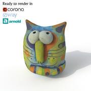 Statuette Cat 3d model