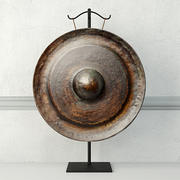 19th Century Laos Bronze Gong 3d model