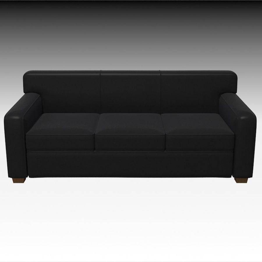 Sofá de couro preto assento de amor mobiliário de salão contemporâneo Modelo 3D $21 - .max .jpg .unknown .obj - Free3D