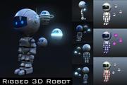 Robot 3D aparejado modelo 3d