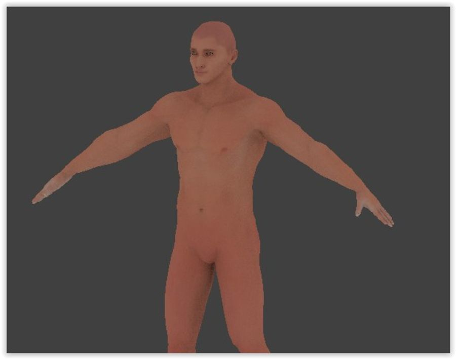 Man Game Character royalty-free 3d model - Preview no. 4