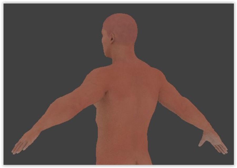 Man Game Character royalty-free 3d model - Preview no. 6