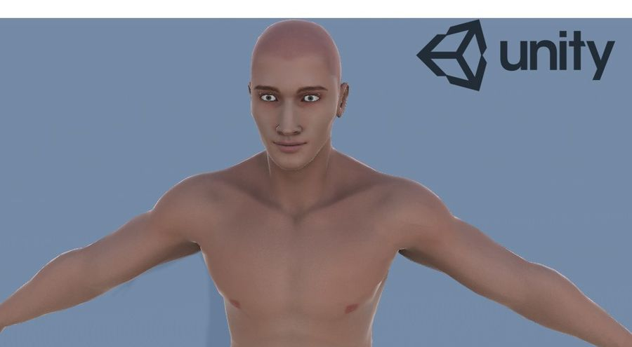 Man Game Character royalty-free 3d model - Preview no. 8