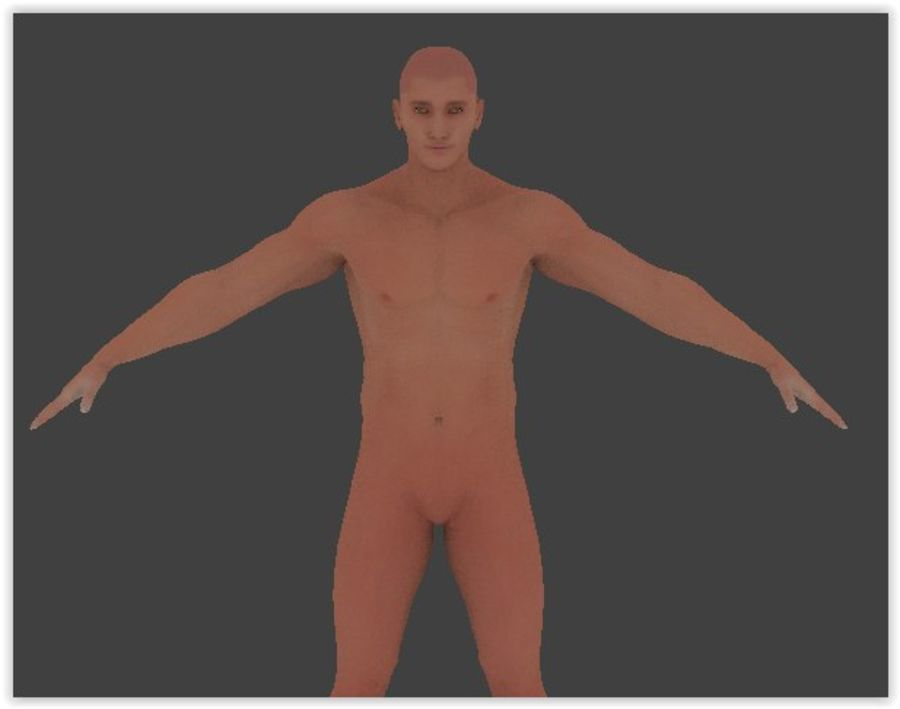Man Game Character royalty-free 3d model - Preview no. 5